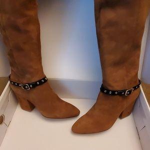 Nine West Brown Sugar Suede Boots - Size 10